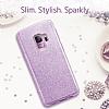 Eiroo Silvery Samsung Galaxy S9 Simli Mor Silikon Kılıf - Resim 2