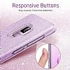 Eiroo Silvery Samsung Galaxy S9 Simli Mor Silikon Kılıf - Resim 1