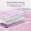 Eiroo Silvery Samsung Galaxy S9 Simli Mor Silikon Kılıf - Resim 3