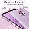 Eiroo Silvery Samsung Galaxy S9 Simli Mor Silikon Kılıf - Resim 5