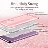 Eiroo Silvery Samsung Galaxy S9 Simli Pembe Silikon Kılıf - Resim 4