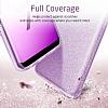 Eiroo Silvery Samsung Galaxy S9 Simli Mor Silikon Kılıf - Resim 4