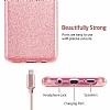 Eiroo Silvery Samsung Galaxy S9 Simli Pembe Silikon Kılıf - Resim 2