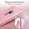 Eiroo Silvery Samsung Galaxy S9 Simli Pembe Silikon Kılıf - Resim 3