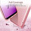 Eiroo Silvery Samsung Galaxy S9 Simli Pembe Silikon Kılıf - Resim 1