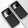 Eiroo Simplified Samsung Galaxy A8 2018 Lacivert Silikon Kılıf - Resim 2
