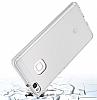 Eiroo Slim Hybrid Huawei P9 Lite Silikon Kenarlı Şeffaf Rubber Kılıf - Resim 5