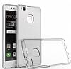 Eiroo Slim Hybrid Huawei P9 Lite Silikon Kenarlı Şeffaf Rubber Kılıf - Resim 1