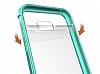 Eiroo Slim Hybrid Samsung Galaxy A3 2017 Silikon Kenarlı Şeffaf Rubber Kılıf - Resim 1