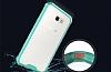 Eiroo Slim Hybrid Samsung Galaxy A3 2017 Silikon Kenarlı Şeffaf Rubber Kılıf - Resim 2