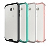 Eiroo Slim Hybrid Samsung Galaxy A7 2017 Silikon Kenarlı Şeffaf Rubber Kılıf - Resim 3