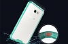 Eiroo Slim Hybrid Samsung Galaxy A7 2017 Silikon Kenarlı Şeffaf Rubber Kılıf - Resim 2