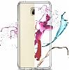Eiroo Slim Hybrid Samsung Galaxy Note 5 Silikon Kenarlı Şeffaf Rubber Kılıf - Resim 4