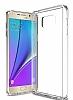 Eiroo Slim Hybrid Samsung Galaxy Note 5 Silikon Kenarlı Şeffaf Rubber Kılıf - Resim 1