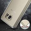 Eiroo Slim Hybrid Samsung Galaxy Note 5 Silikon Kenarlı Şeffaf Rubber Kılıf - Resim 5