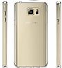 Eiroo Slim Hybrid Samsung Galaxy Note 5 Silikon Kenarlı Şeffaf Rubber Kılıf - Resim 3