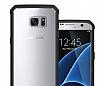 Eiroo Slim Hybrid Samsung Galaxy S7 Silikon Kenarlı Şeffaf Rubber Kılıf - Resim 4
