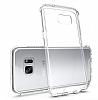 Eiroo Slim Hybrid Samsung Galaxy S7 Silikon Kenarlı Şeffaf Rubber Kılıf - Resim 1