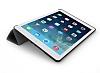 Eiroo Smart iPad Air / iPad 9.7 Kapaklı Siyah Deri Kılıf - Resim 2