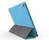 Eiroo Smart iPad Mini / Mini 2 / Mini 3 Kapaklı Mavi Deri Kılıf - Resim 1