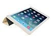 Eiroo Smart iPad Mini / Mini 2 / Mini 3 Kapaklı Gold Deri Kılıf - Resim 3