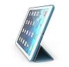 Eiroo Smart iPad Mini / Mini 2 / Mini 3 Kapaklı Mavi Deri Kılıf - Resim 2