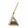 Eiroo Smart iPad Mini / Mini 2 / Mini 3 Kapaklı Gold Deri Kılıf - Resim 1