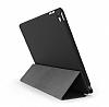 Eiroo Smart iPad Mini / Mini 2 / Mini 3 Kapaklı Siyah Deri Kılıf - Resim 1