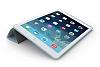Eiroo Smart iPad Mini / Mini 2 / Mini 3 Kapaklı Mavi Deri Kılıf - Resim 3