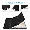 Eiroo Smart iPad Pro 10.5 Kapaklı Siyah Deri Kılıf - Resim 2