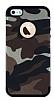 Eiroo Soldier iPhone SE / 5 / 5S Kahverengi Silikon Kılıf - Resim 4