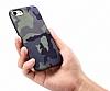 Eiroo Soldier Samsung Galaxy Note 4 Kahverengi Silikon Kılıf - Resim 3