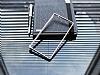 Eiroo Sony Xperia M4 Aqua Gold Çizgili Round Metal Bumper Çerçeve Silver Kılıf - Resim 2
