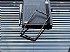 Eiroo Sony Xperia M4 Aqua Gold Çizgili Round Metal Bumper Çerçeve Siyah Kılıf - Resim 2