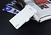 Eiroo Sony Xperia T3 Cüzdanlı Yan Kapaklı Beyaz Deri Kılıf - Resim 4