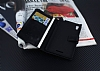 Eiroo Sony Xperia T3 Cüzdanlı Yan Kapaklı Siyah Deri Kılıf - Resim 1