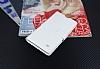 Eiroo Sony Xperia T3 Cüzdanlı Yan Kapaklı Beyaz Deri Kılıf - Resim 3