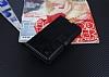 Eiroo Sony Xperia T3 Cüzdanlı Yan Kapaklı Siyah Deri Kılıf - Resim 3