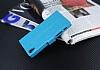 Eiroo Sony Xperia X Cüzdanlı Yan Kapaklı Mavi Deri Kılıf - Resim 4
