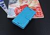 Eiroo Sony Xperia X Cüzdanlı Yan Kapaklı Mavi Deri Kılıf - Resim 3