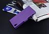 Eiroo Sony Xperia X Cüzdanlı Yan Kapaklı Mor Deri Kılıf - Resim 4