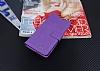 Eiroo Sony Xperia XA Cüzdanlı Yan Kapaklı Mor Deri Kılıf - Resim 3