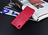 Eiroo Sony Xperia XA Cüzdanlı Yan Kapaklı Pembe Deri Kılıf - Resim 3