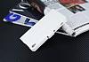 Eiroo Sony Xperia XA Cüzdanlı Yan Kapaklı Beyaz Deri Kılıf - Resim 1