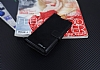Eiroo Sony Xperia XA Cüzdanlı Yan Kapaklı Siyah Deri Kılıf - Resim 1