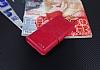 Eiroo Sony Xperia XA Cüzdanlı Yan Kapaklı Pembe Deri Kılıf - Resim 4