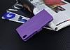 Eiroo Sony Xperia XA Cüzdanlı Yan Kapaklı Mor Deri Kılıf - Resim 4