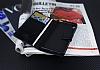 Eiroo Sony Xperia XA Cüzdanlı Yan Kapaklı Mor Deri Kılıf - Resim 1