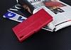 Eiroo Sony Xperia XA Ultra Cüzdanlı Yan Kapaklı Pembe Deri Kılıf - Resim 4