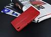 Eiroo Sony Xperia XA Ultra Cüzdanlı Yan Kapaklı Kırmızı Deri Kılıf - Resim 4